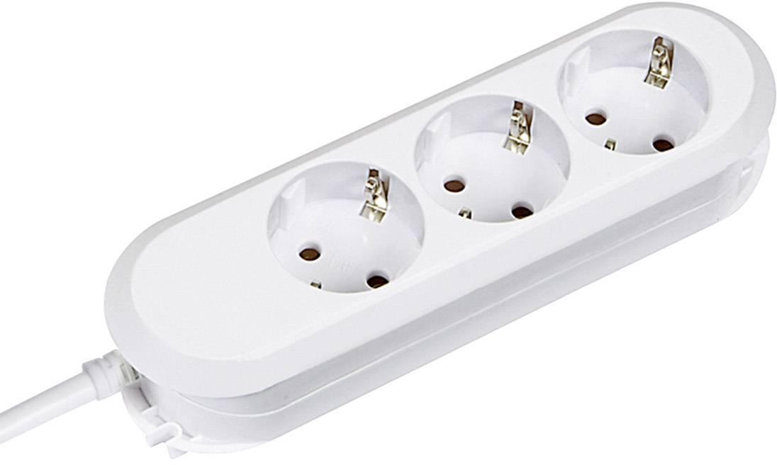 Zásuvková lišta bez spínača Bachmann Electric Smart, 388270, 3 zásuvky, 1.5 m, biela