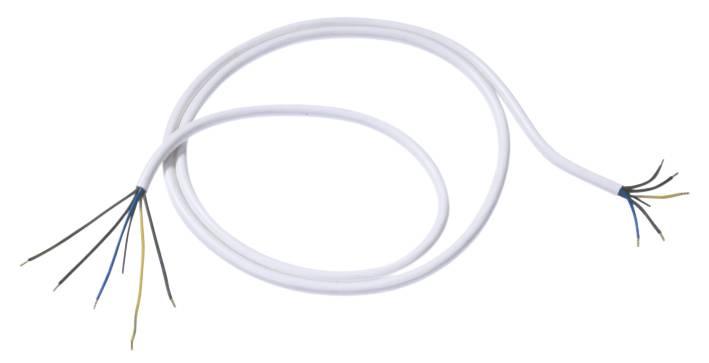 Síťový kabel Bachmann Electric 119271, otevřené konce, 2,5 mm², 2 m, bílá