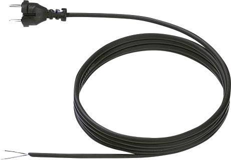 Síťový kabel Bachmann Electric 246186, zástrčka/otevřený konec, 1 mm², 5 m, černá