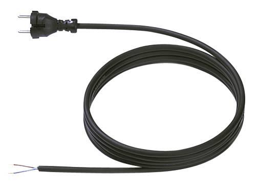 Síťový kabel Bachmann Electric 246176, zástrčka/otevřený konec, 1 mm², 5 m, černá