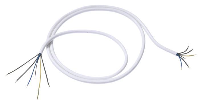 Síťový kabel Bachmann Electric 119270, otevřené konce, 2,5 mm², 1,5 m, bílá