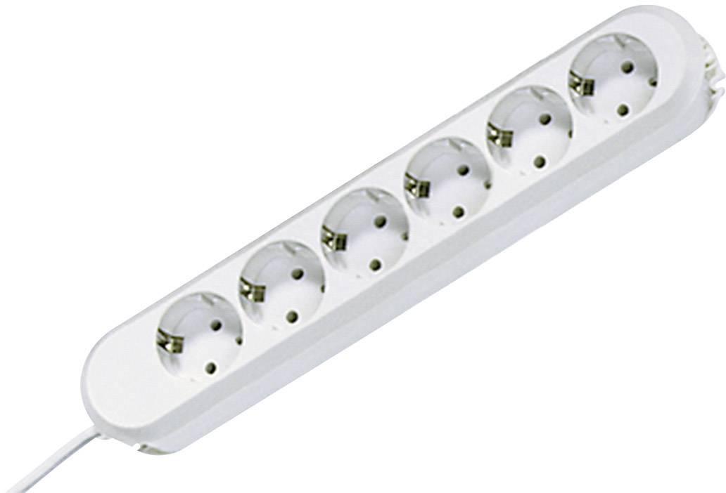 Zásuvková lišta bez spínača Bachmann Electric Smart, 6 zásuviek, 3 m, biela