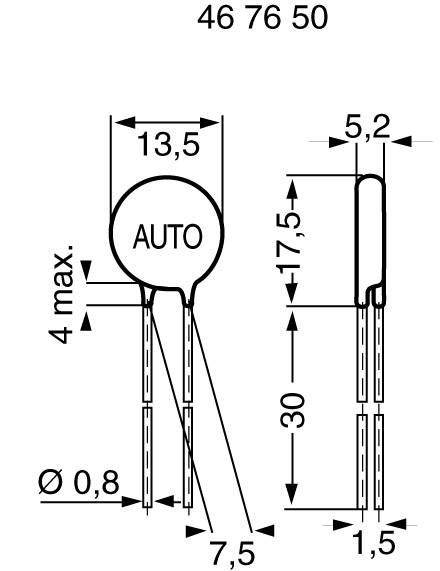 Metaloxidový varistor Epcos S10K14, 22 V, 1 ks