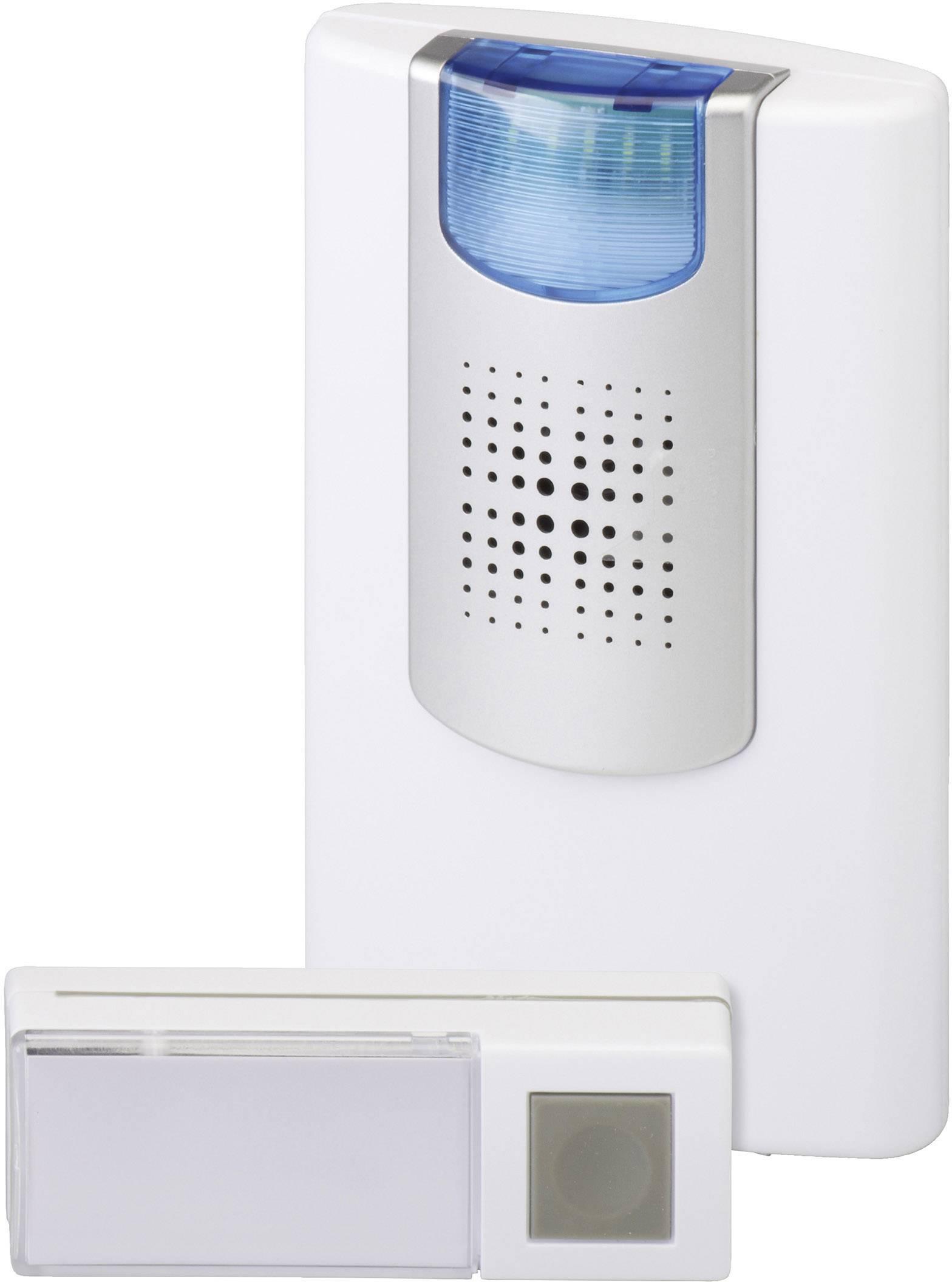 Bezdrôtový zvonček Heidemann HX Flashlight 70824, kompletná sada, max. dosah 200 m, biela