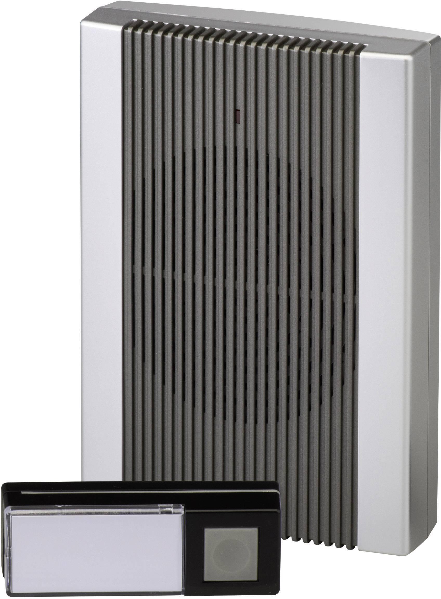 Bezdrôtový zvonček Heidemann HX Sound 70843, kompletná sada, max. dosah 200 m, antracitová, strieborná