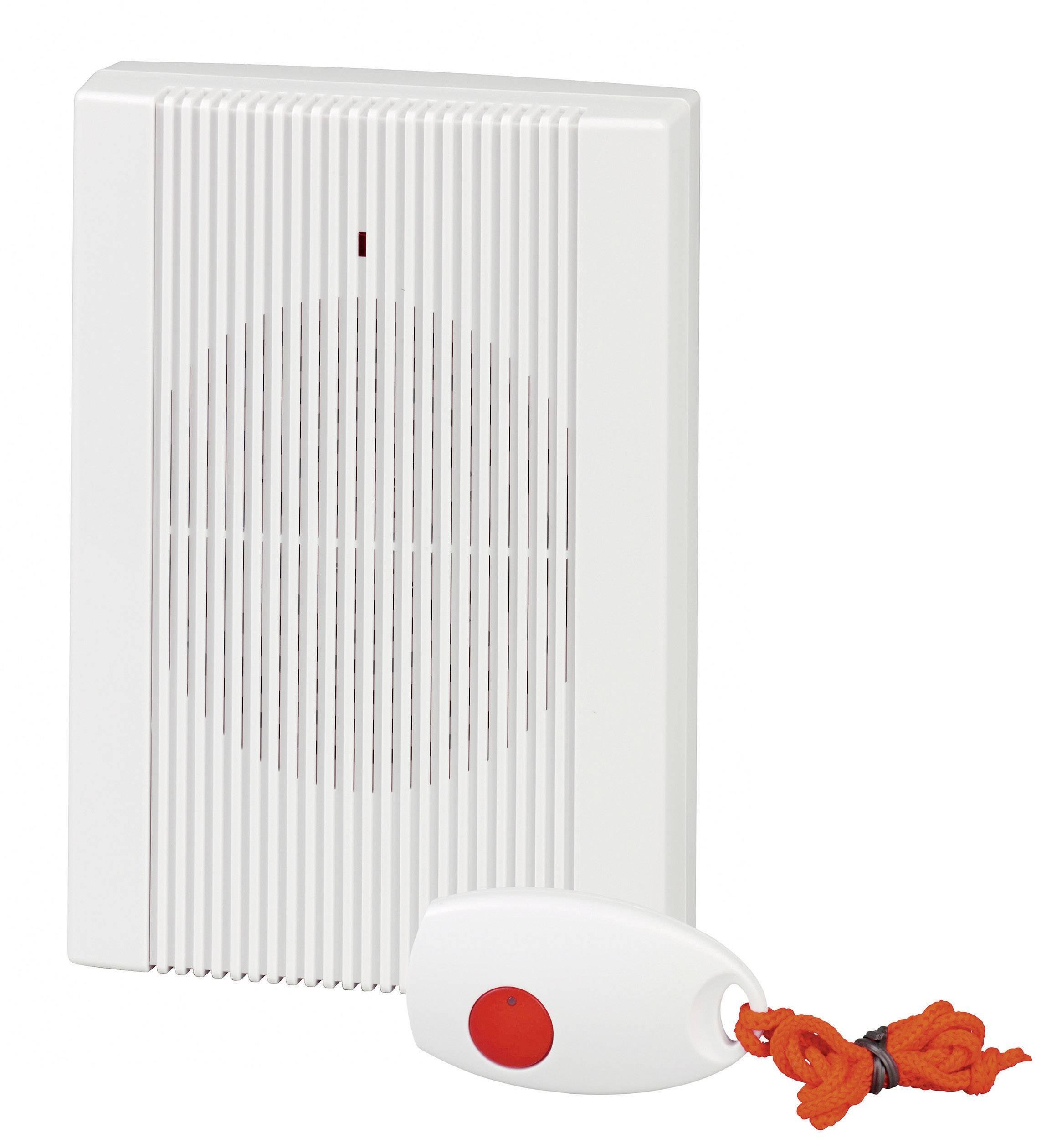 Bezdrôtový zvonček Heidemann HX Guardian 70844, kompletná sada, max. dosah 150 m, biela, červená