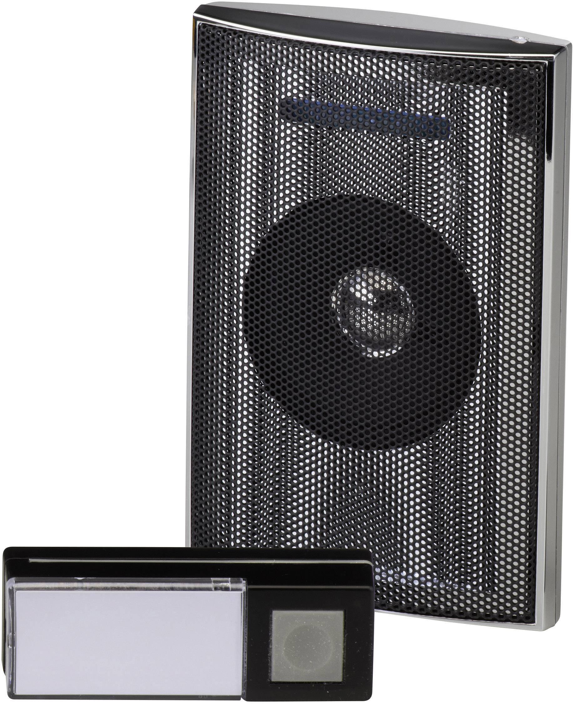 Bezdrôtový zvonček Heidemann HX Music Box 70846, kompletná sada, max. dosah 200 m, strieborná, čierna, antracitová