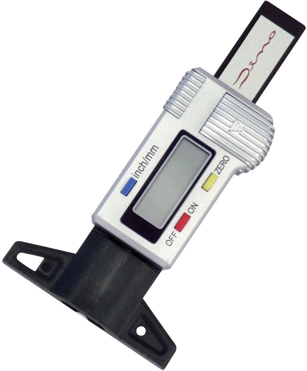Digitálne meradlo hĺbky dezénu pneumatiky Dino, 130005