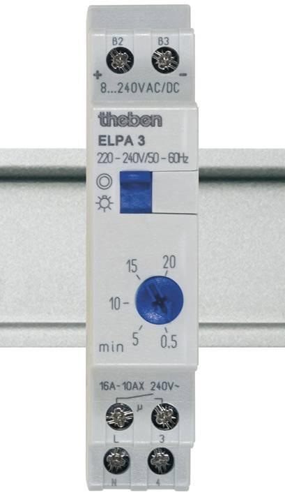 Schodiskový spínač na DIN lištu Theben Elpa3, analógový, 1NO, 30002