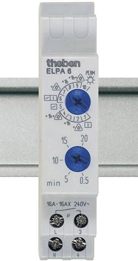 Schodiskový spínač na DIN lištu Theben Elpa6, analógový, 0.5 - 20 min, 60002