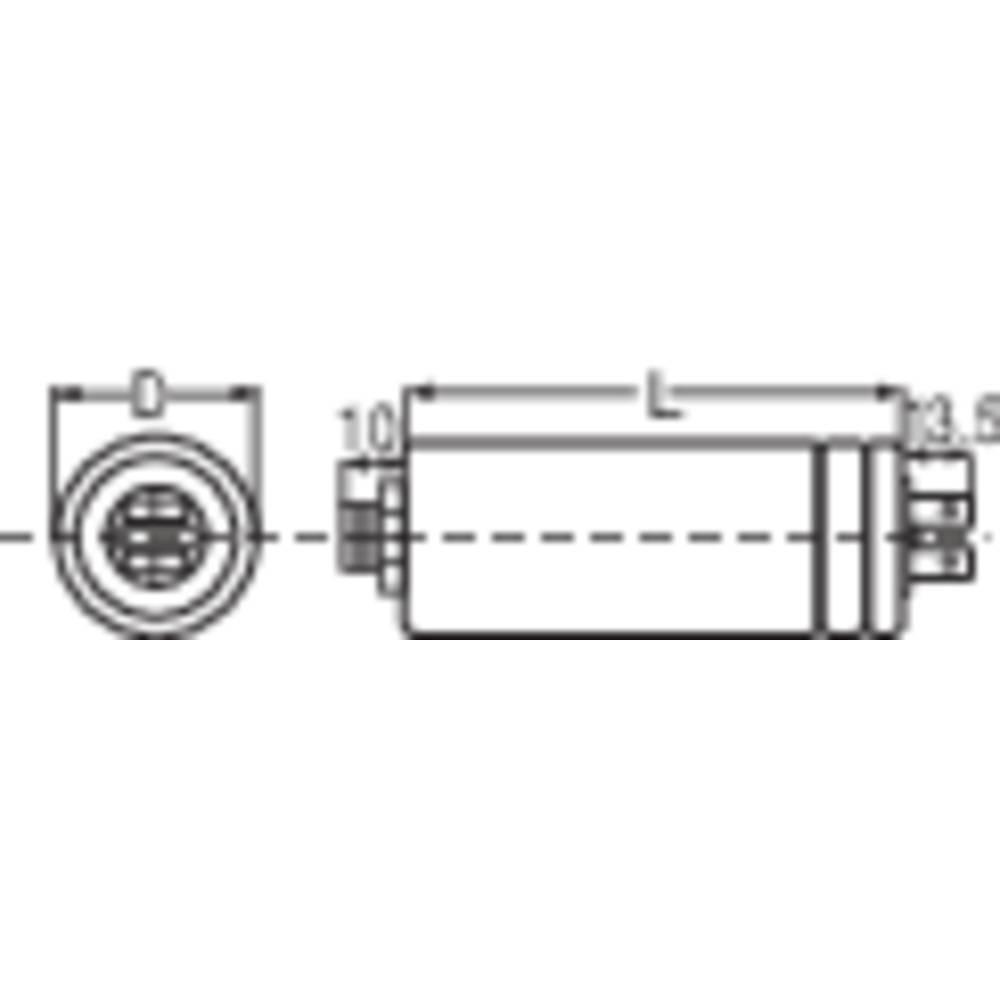 Foliový kondenzátor MKP, 2,5 µF, 400 V/AC, 5 %, 63 x 30 mm