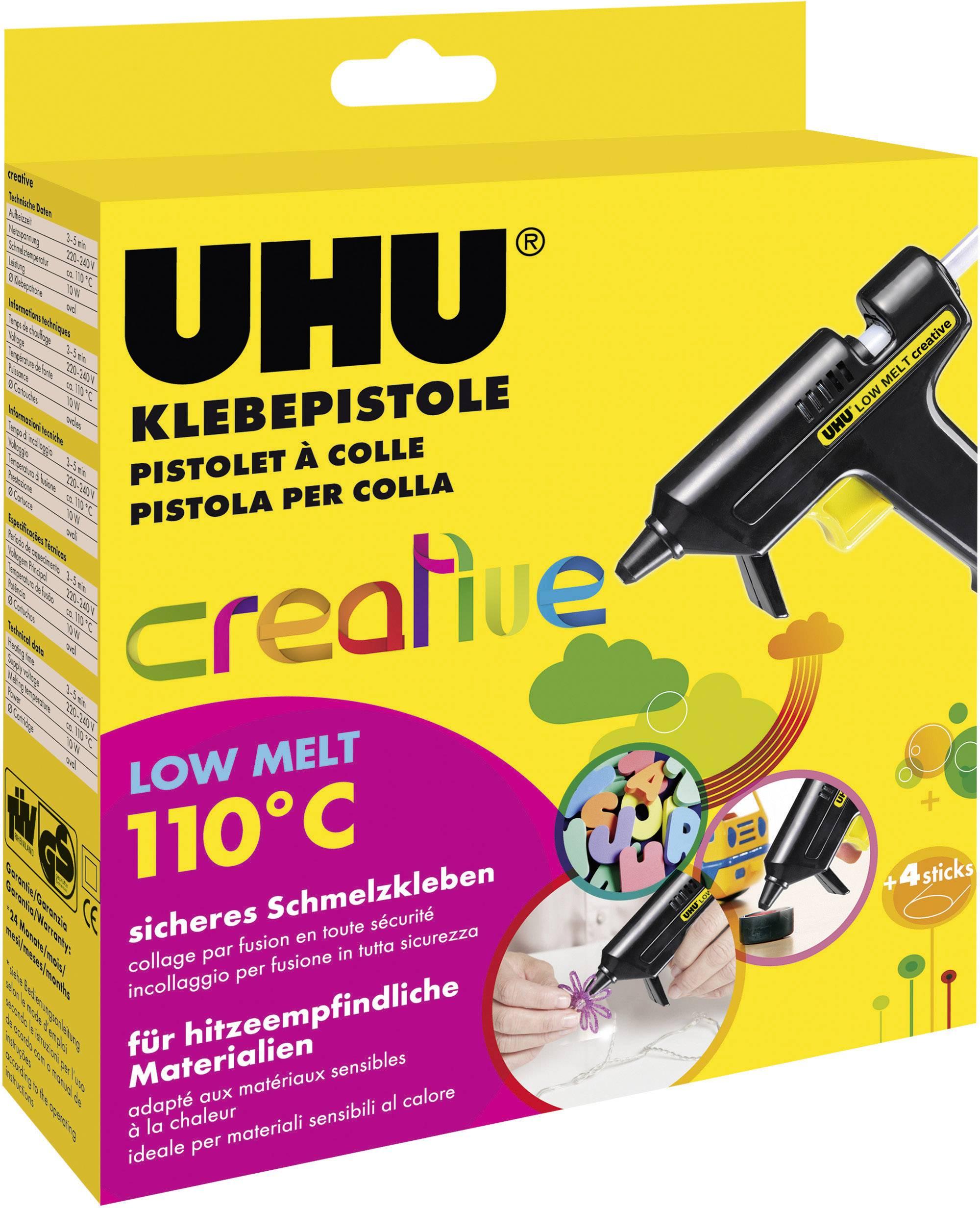 Tavná lepiaca pištoľ UHU LOW MELT Creative 48610, 10 W