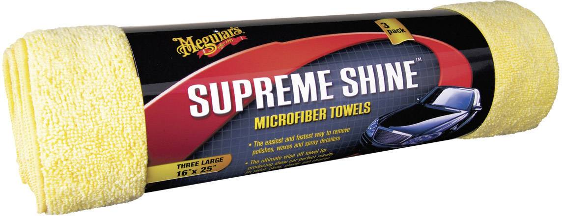 Utierka z mikrovlákna Meguiars Supreme Shine, X2020, 3 ks