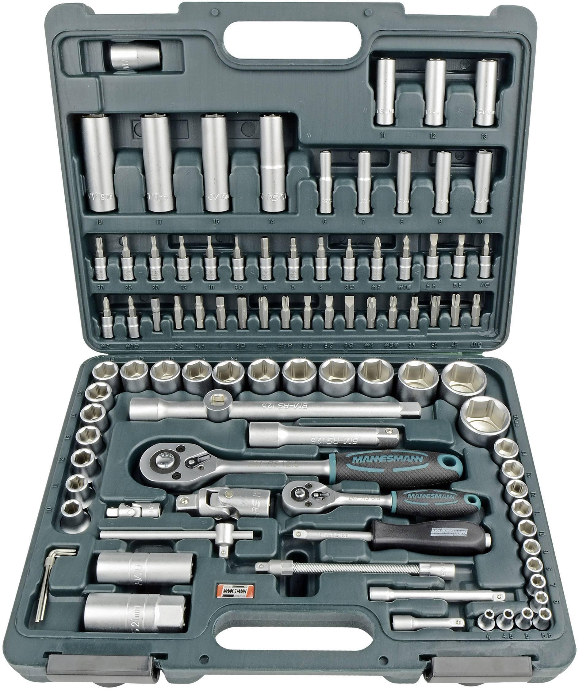 """Súprava nástrčných kľúčov Brüder Mannesmann M98410, 1/4"""" (6,3 mm), 1/2"""" (12.5 mm)"""