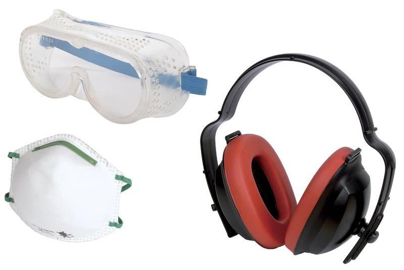 Mušlový chránič sluchu Wolfcraft 1 Work safety kit 4871000, 1 ks