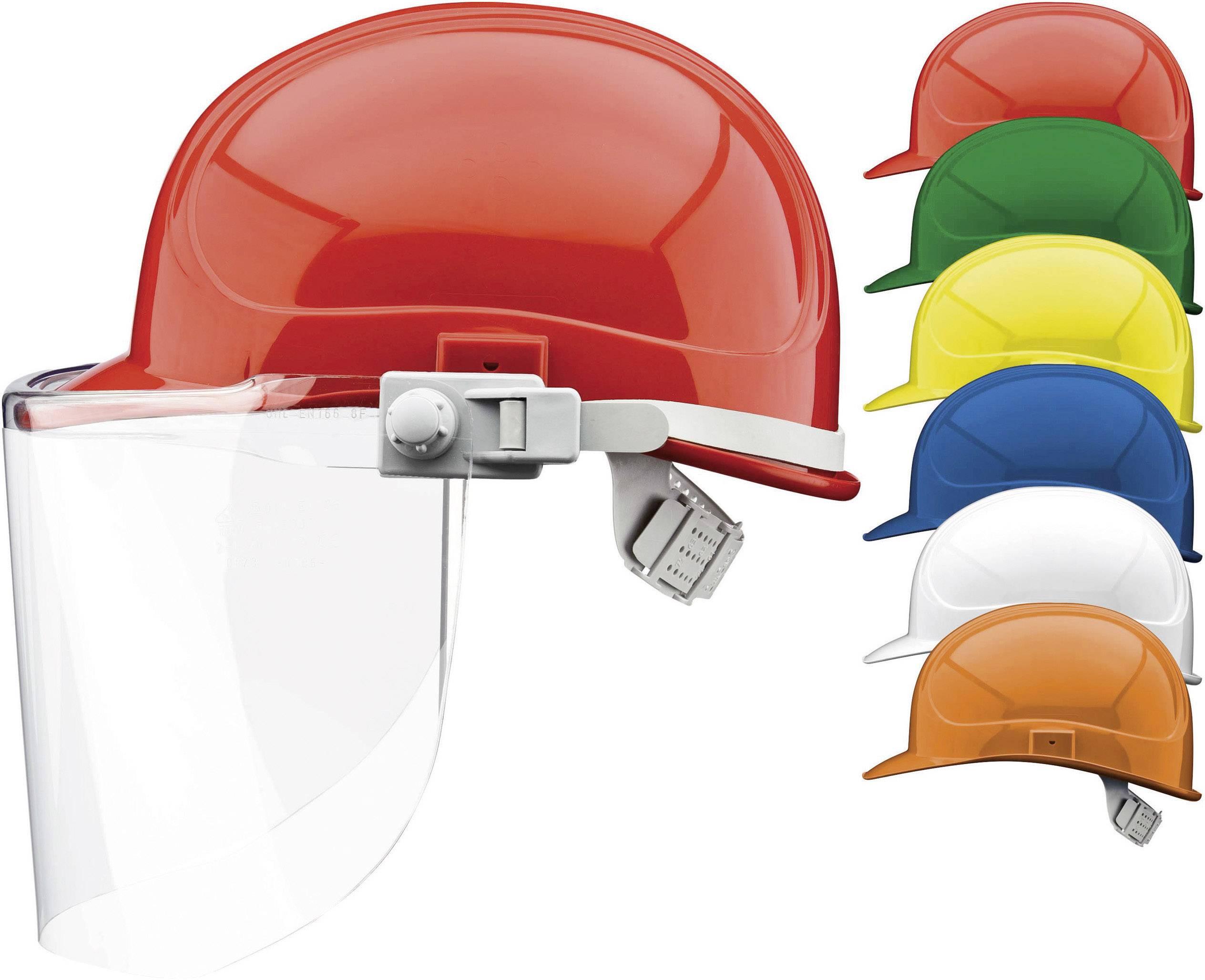Ochranná PE prilba Voss Helme pre elektrikárov, 6-bodová, oranžová