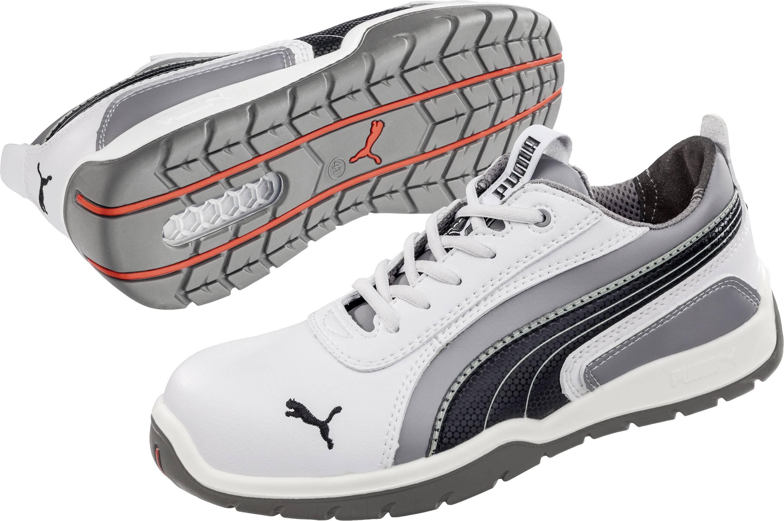 Bezpečnostná obuv S3 PUMA Safety Monaco Low 642650, veľ.: 39, biela, sivá, 1 pár