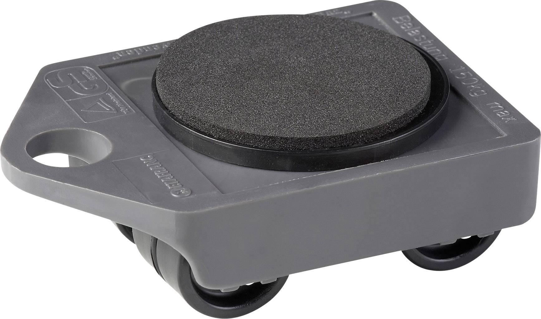 Plastová transportní plošinka, 106 x 75 x 38 mm, šedá