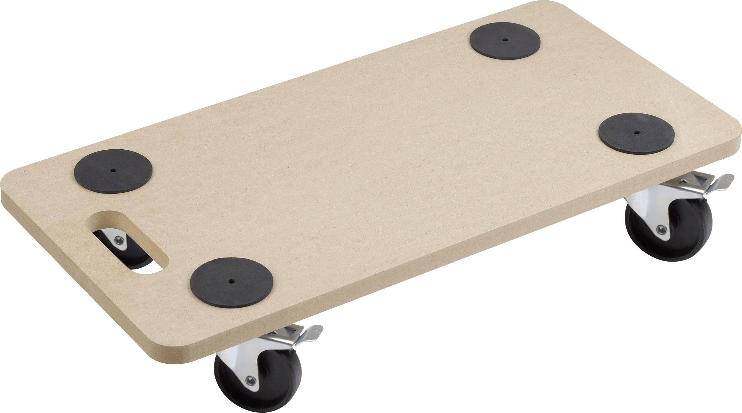 Prepravná plošinka s kolieskami Meister Werkzeuge 0821400, max.nosnosť: 200 kg, drevo