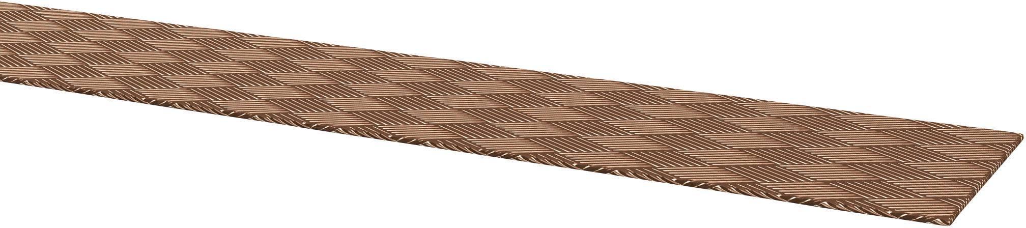Copper earthing strap, bare 301007500 Kabeltronik Množství: metrové zboží