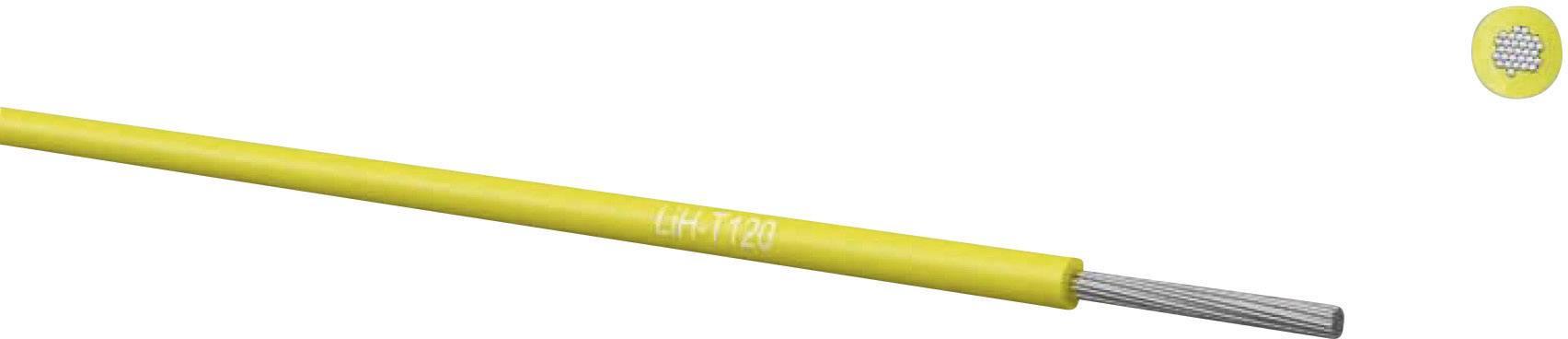Opletenie / lanko Kabeltronik 65002503 LiH-T, 1 x 0.25 mm², vonkajší Ø 0.85 mm, metrový tovar, zelená
