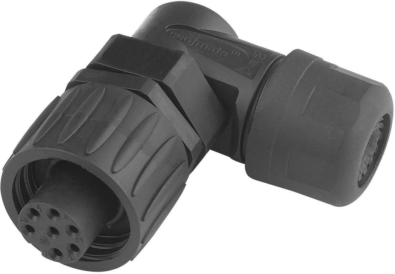 Kabelová zásuvka úhlová 6+PE Amphenol C016 10F006 000 12, černá/modrá