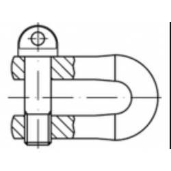 Třmen Toolcraft, forma A, M5, 100 kg, 10 ks