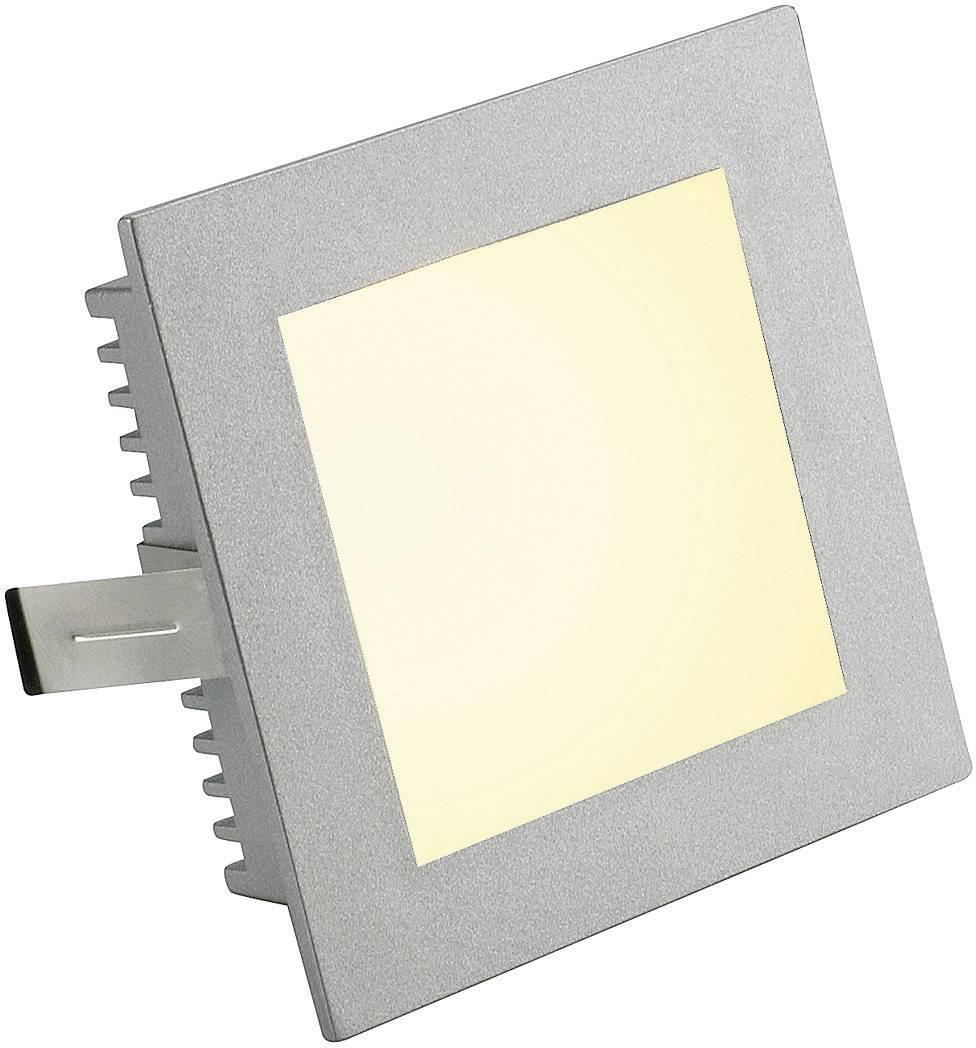 Vstavané svietidlo SLV Flat Frame Basic 112732, max. 20 W, strieborná/šedá