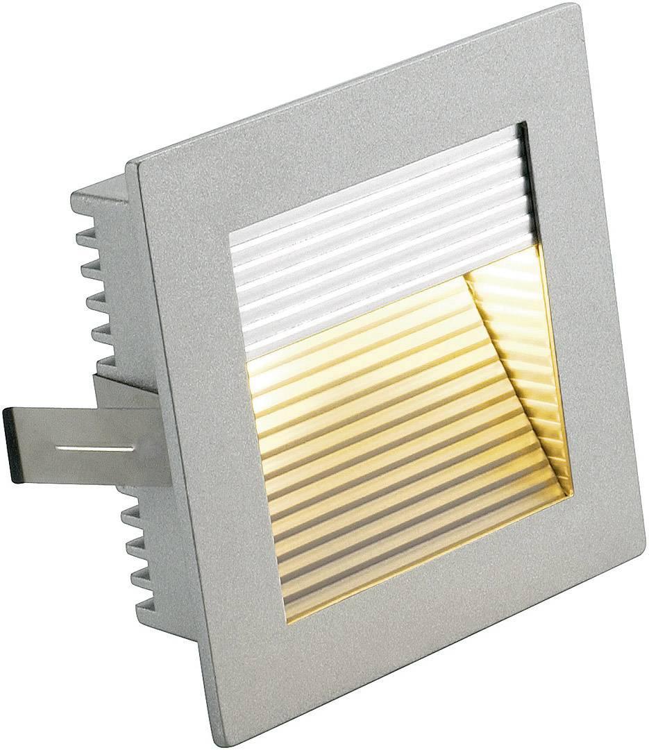 Vstavané svietidlo SLV Flat Frame Curve 112772, max. 10 W, strieborná/šedá
