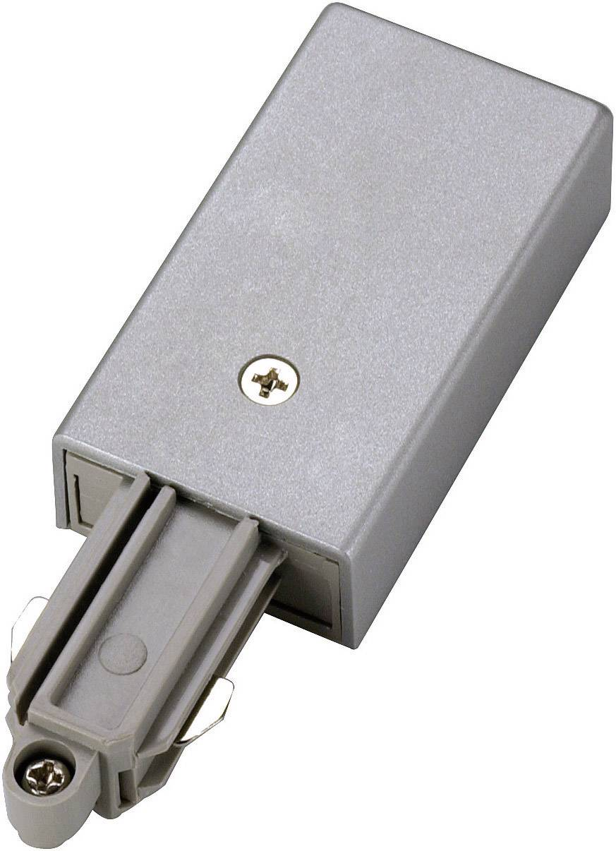 Napájecí zdroj SLV pro 1fázový HV kolejnicový systém 143032, 230 V/50 Hz, stříbrná/šedá