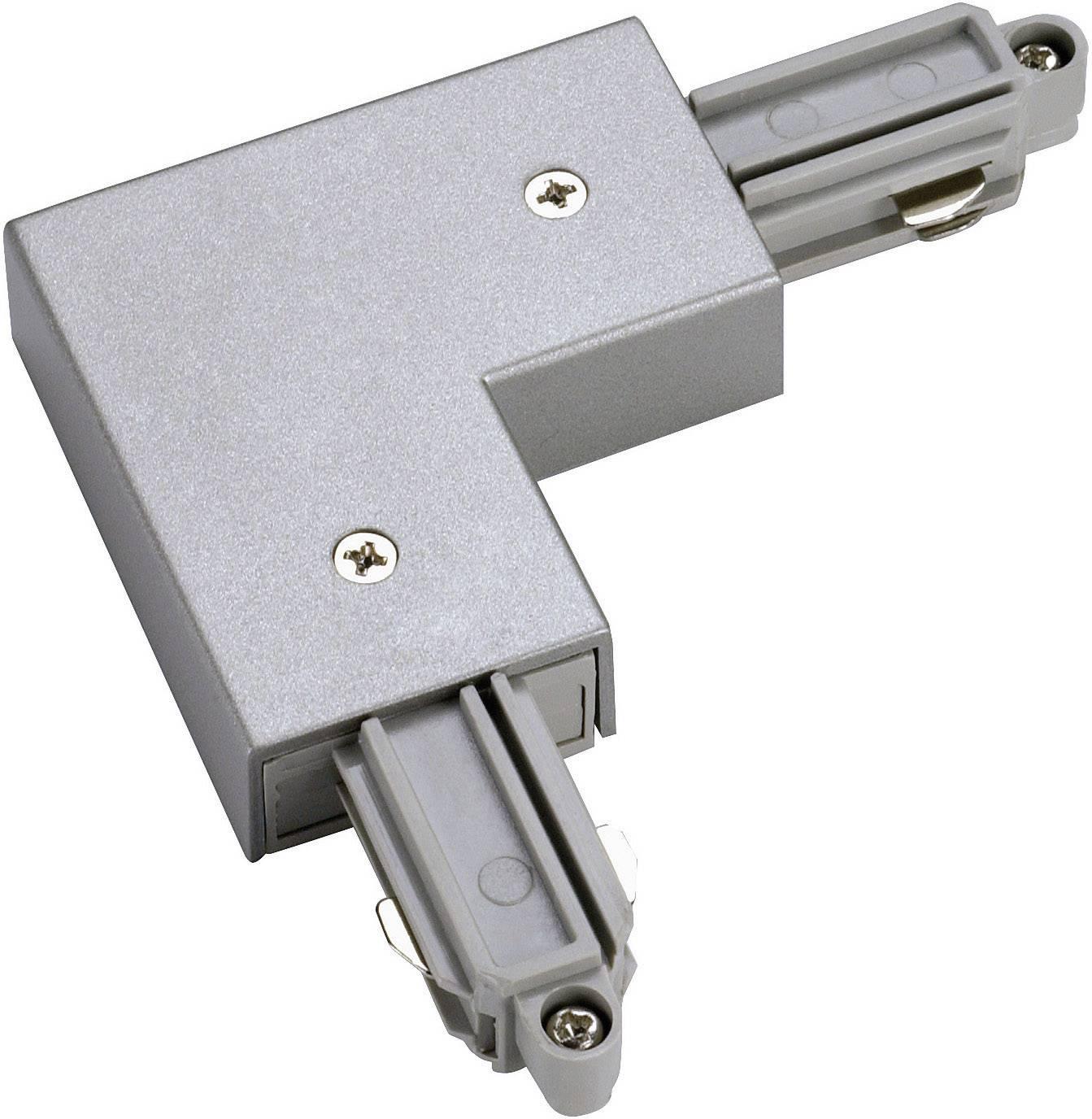 Rohová spojka pre 1-fázový HV koľajnicový systém 143062 strieborná