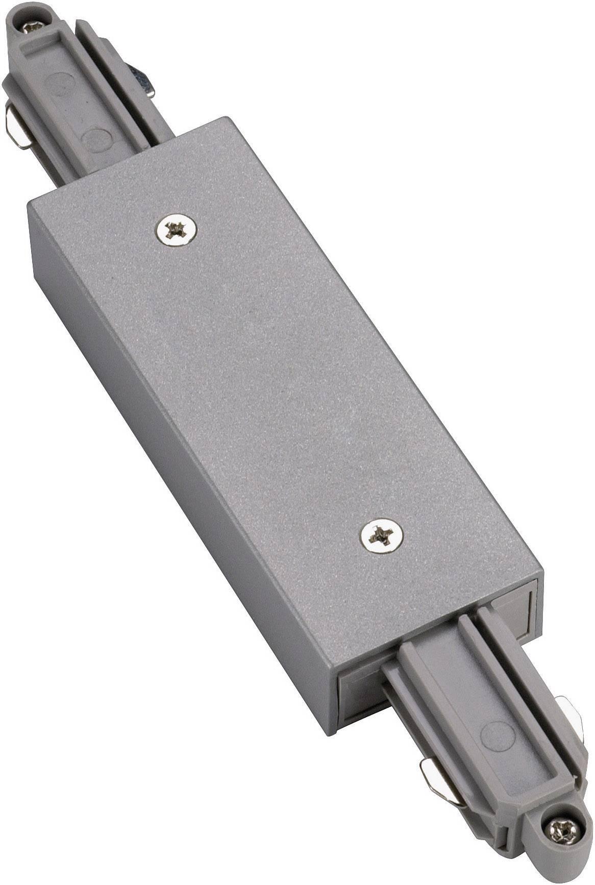 Podélná spojka SLV pro 1fázový HV kolejnicový systém 143102, 230 V, stříbrná