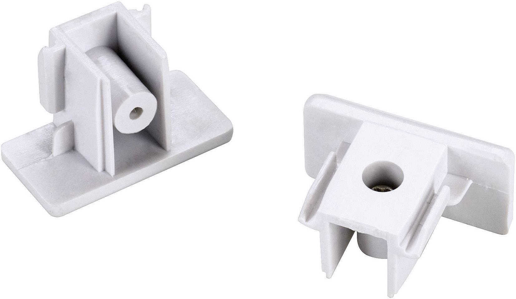 Koncové krytky SLV pro 1fázový kolejnicový systém, 143131, 2 ks, plast, bílá