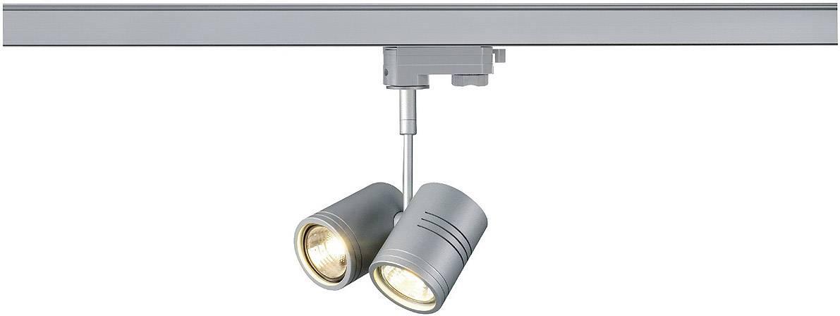 Svietidlo pre lištové systémy (230 V) - GU10 SLV Bima II, 3-fázové, 100 W, strieborná