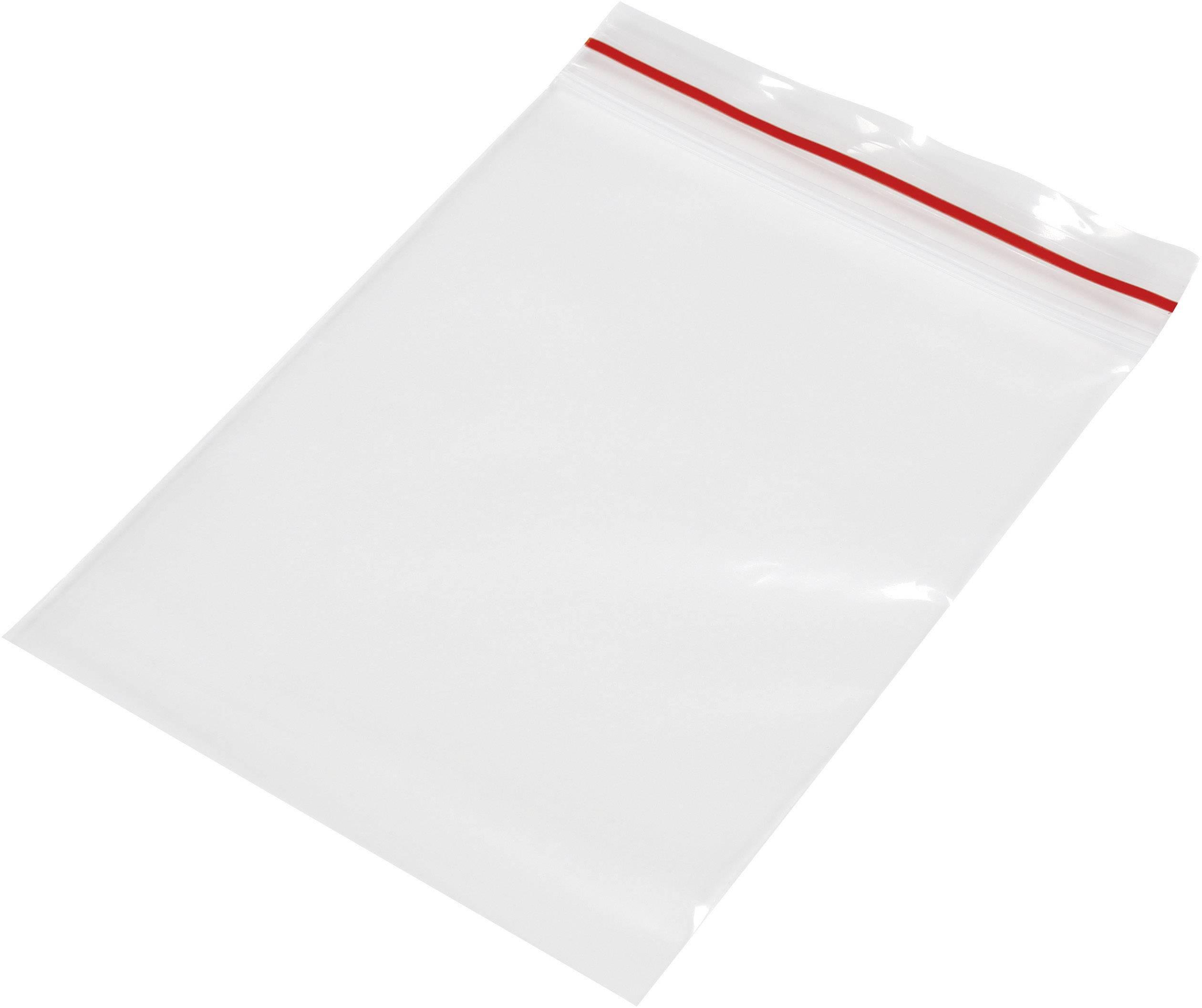 Uzavíratelný sáček bez popisných štítků TRU COMPONENTS (š x v) 80 mm x 120 mm, polyetylén, transparentní