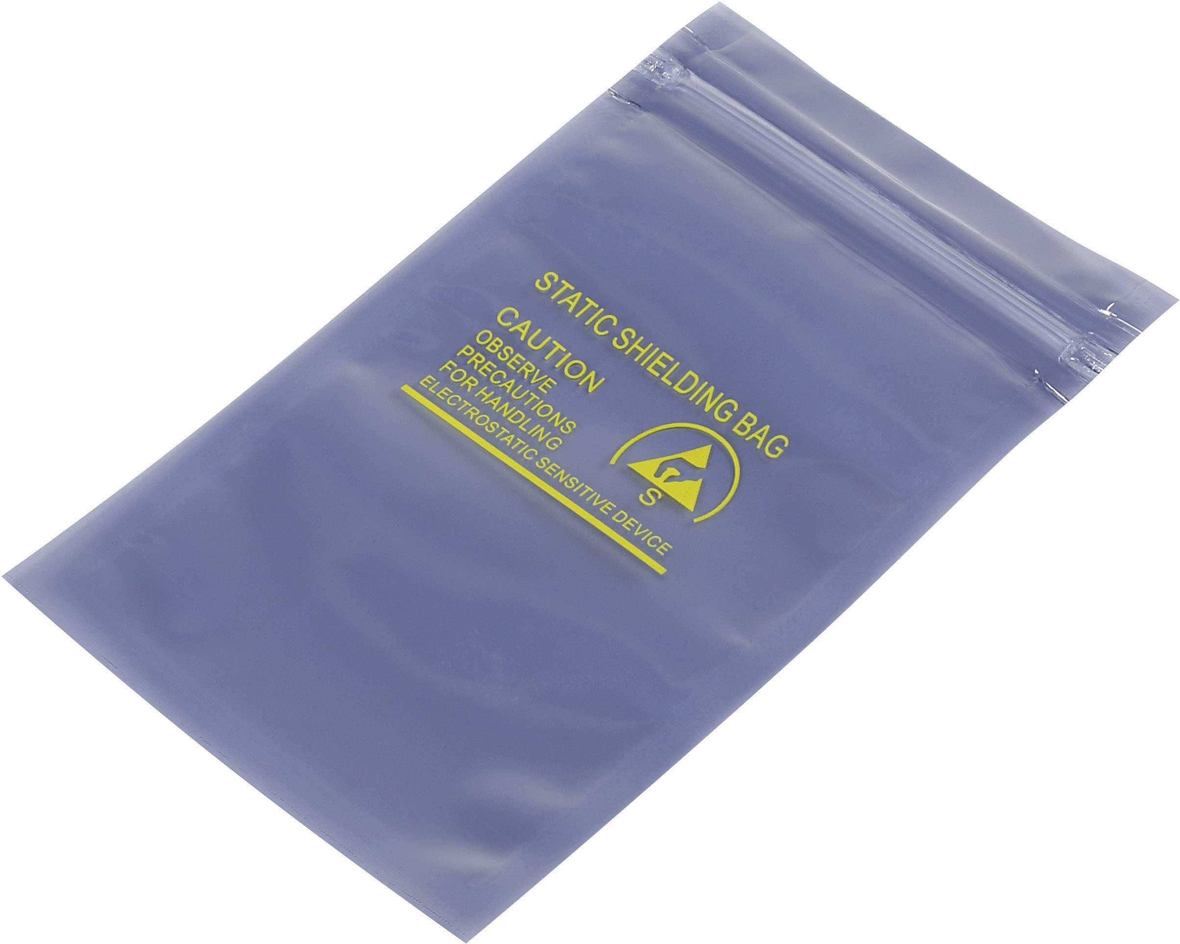 ESD sáček TRU COMPONENTS 1570970, (d x š) 127 mm x 76 mm, odstíněný