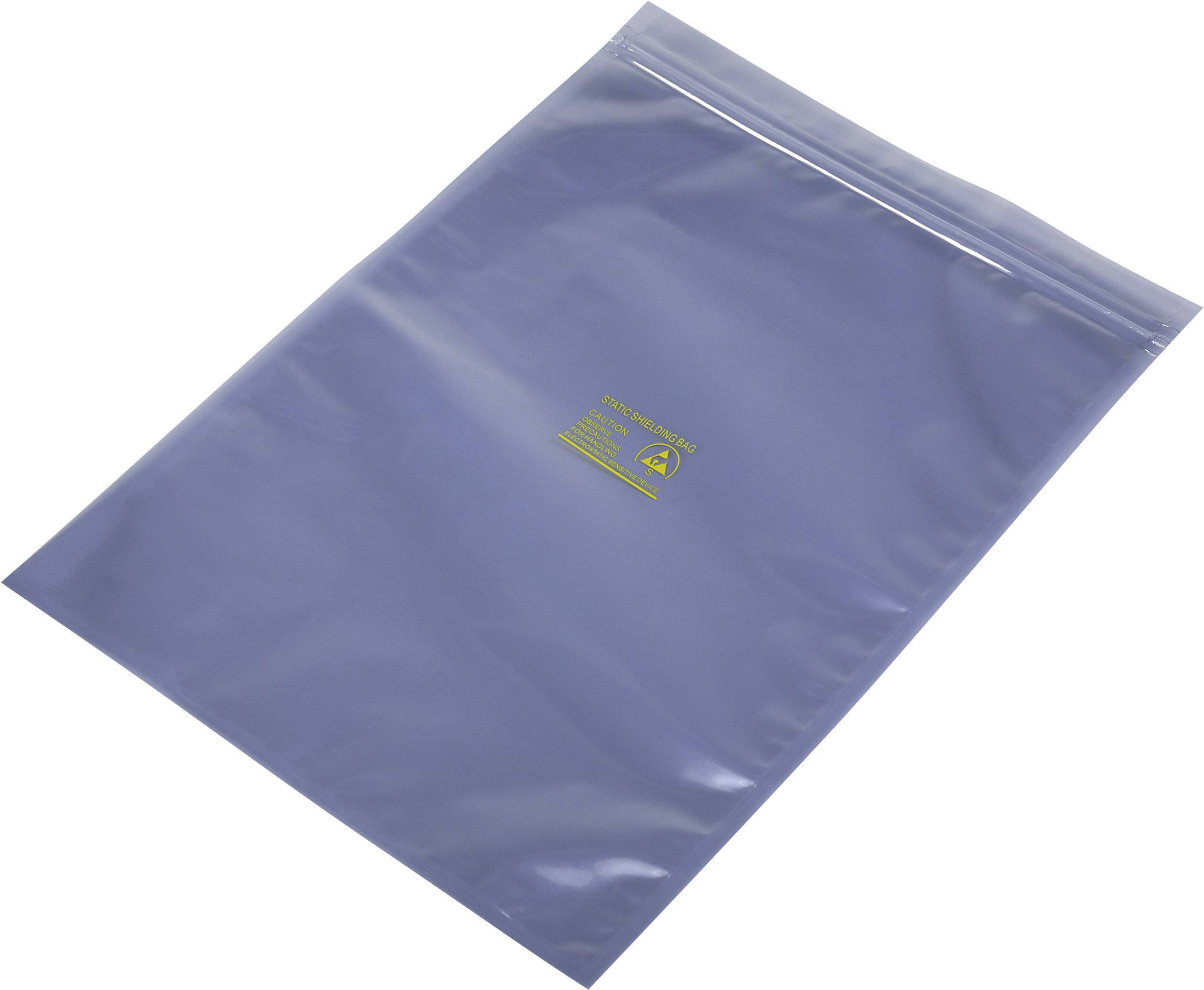 ESD sáčok 490158, (d x š) 350 mm x 250 mm, tienený