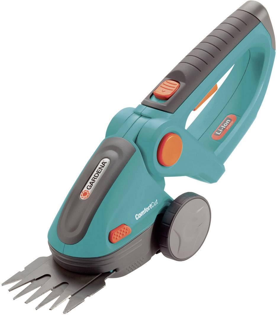 Na akumulátor nůžky na trávu + akumulátor Li-Ion akumulátor GARDENA ComfortCut
