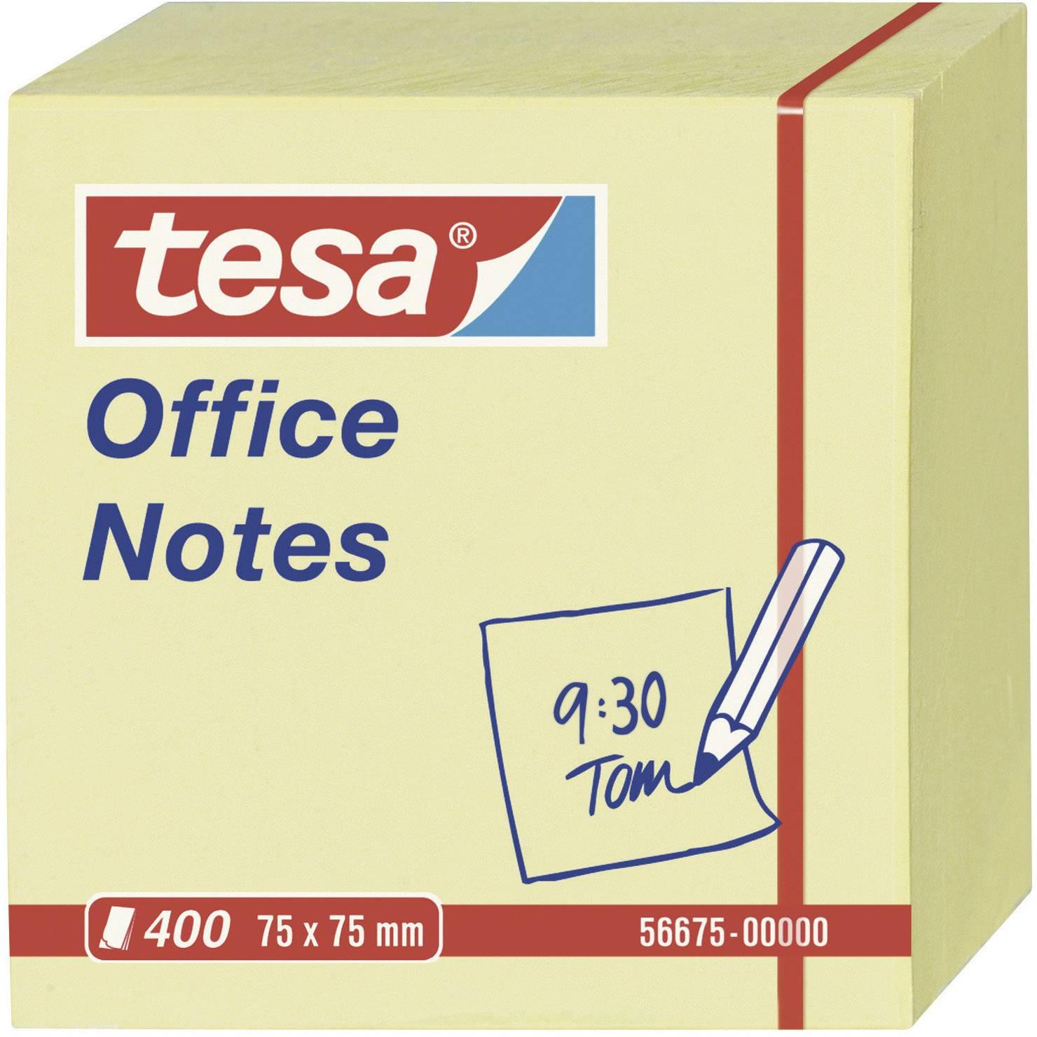 Samolepicí poznámkové bločky tesa 56675-00000, (š x v) 75 mm x 75 mm, žlutá, 400 listů