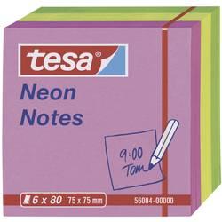 Samolepicí poznámkové bločky tesa 56004-00-00, (š x v) 75 mm x 75 mm, růžová, žlutá, zelená, 480 listů