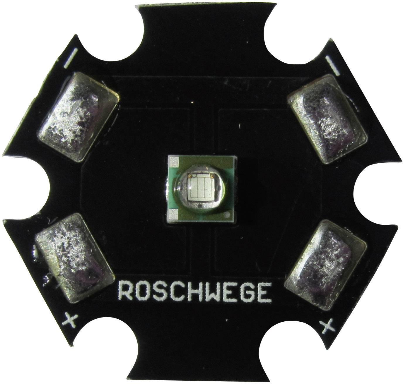 HighPower LED Roschwege 1 W, 2.5 V, 350 mA, sýto červená