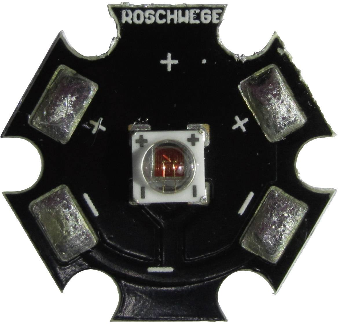 HighPower LED, Star-DR660-10-00-00, 1000 mA, 11,2 V, sytě červená