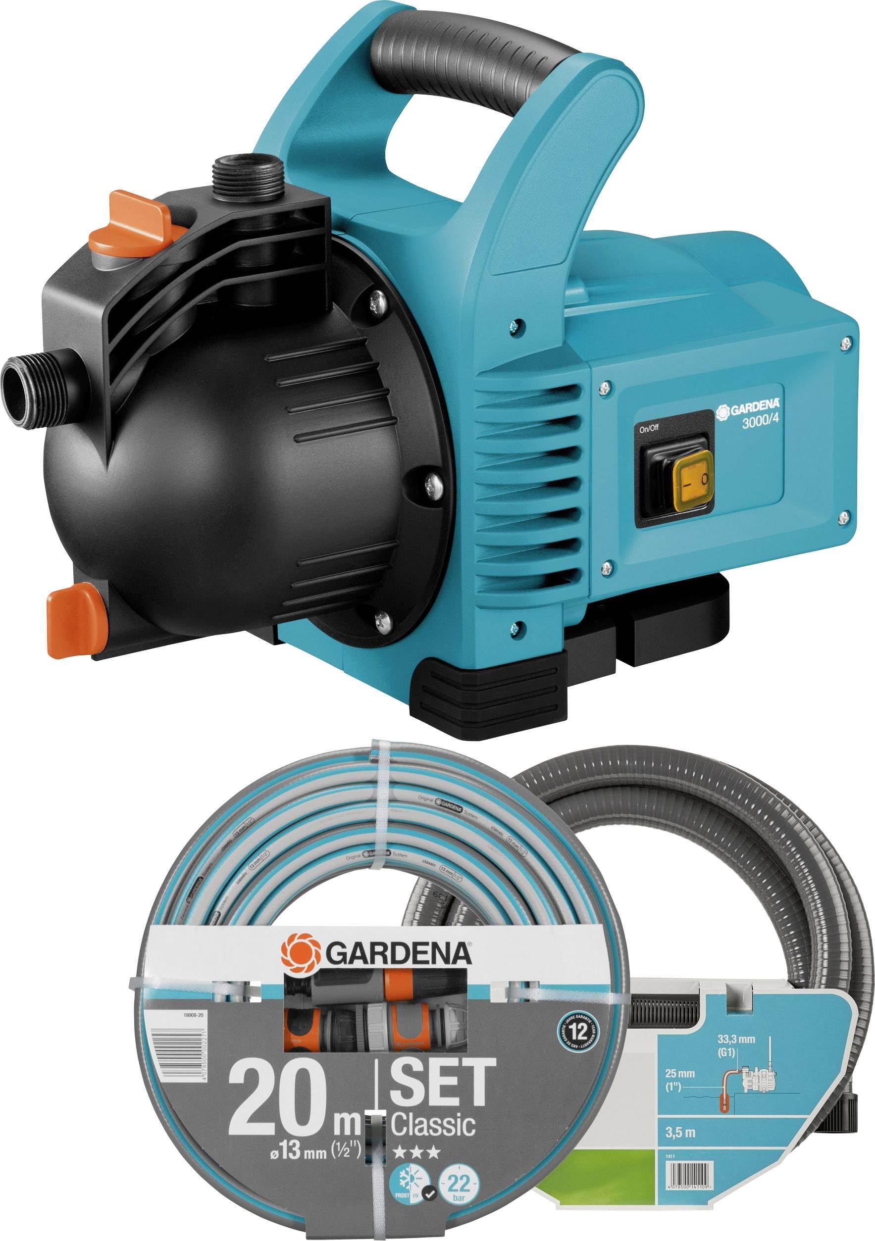 Zahradní čerpadlo GARDENA 3000/4, 3100 l/h, 36 m, 600 W