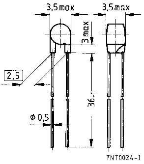 Termistor Epcos B57891M104J, ±5 %, M891/100 K/5%