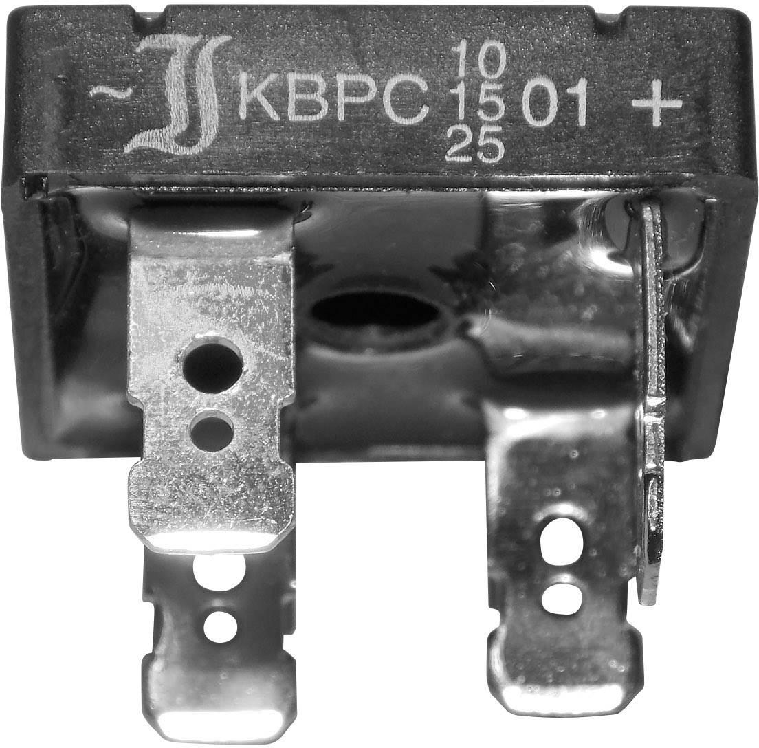 Křem. můstk.usm. 10 A TRU COMPONENTS TC-KBPC10/15/2501FP 25 A U(RRM) 100 V