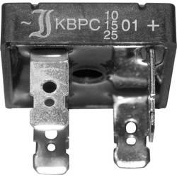 Usměrňov. můstek Diotec KBPC10/15/2501F, U(RRM) 100 V, U(FM) 1,2 V, 10 A (jen s chladičem)