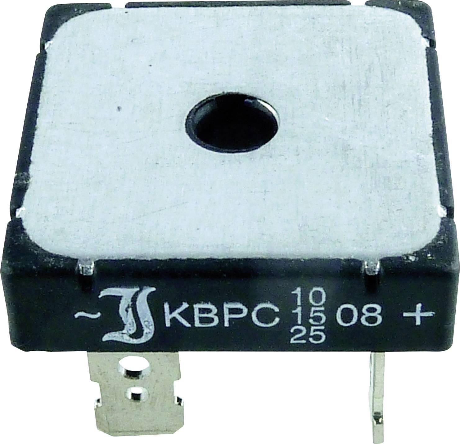 Křem. můstk.usm. 25 A TRU COMPONENTS TC-KBPC10/15/2506FP 25 A U(RRM) 600 V