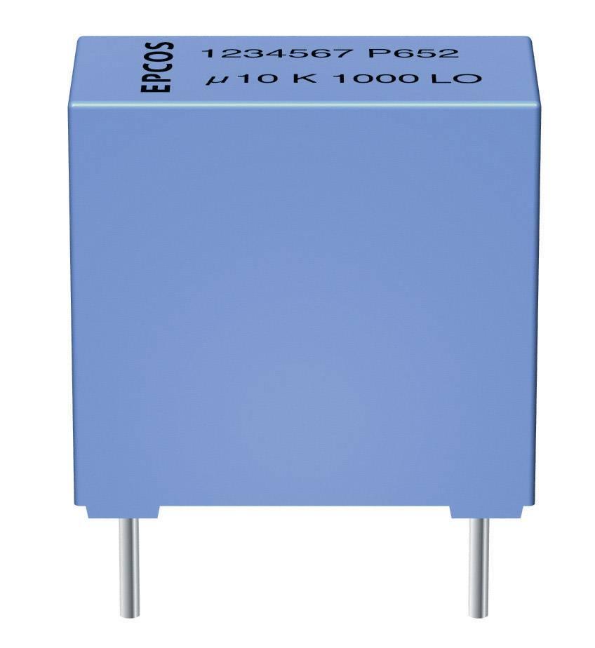 Fóliový kondenzátor MKT Epcos B32529-C104-K radiálne vývody, 0.1 µF, 63 V/DC,10 %, 5 mm, (d x š x v) 7.2 x 2.5 x 6.5 mm, 1 ks