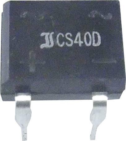 Kremíkový jednosmerný mostíkový usmerňovač 0,8/1,0 A Diotec, B250D, Typ puzdra DIL (7,5 x 5 mm raster), Menovitý prúd 1 A, U(RRM) 600 V