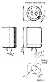 Snap In kondenzátor elektrolytický Epcos B43504-A9107-M, 100 µF, 400 V, 20 %, 35 x 22 mm